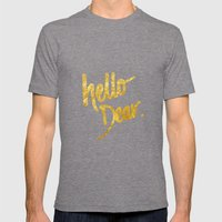 Hello Dear Handwritten T… Mens Fitted Tee Tri-Grey SMALL