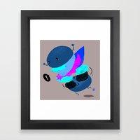 Falling Burger Framed Art Print