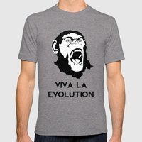 VIVA LA EVOLUTION Mens Fitted Tee Tri-Grey SMALL