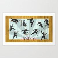 Decathlon Horizontal Pos… Art Print