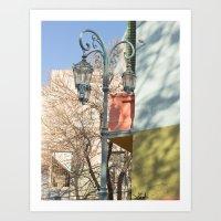 Street Lights of La Boca II Art Print