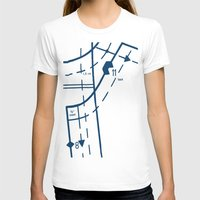 Pattern Master Navy Womens Fitted Tee White SMALL