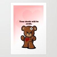 Love Bear Art Print