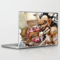 native american Laptop & iPad Skins featuring cowboy and native american by Roger Cruz