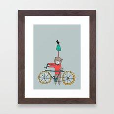 Biker Bear Framed Art Print