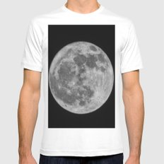 full moon Mens Fitted Tee White SMALL