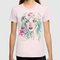Ice Queen Womens Fitted Tee Light Pink SMALL