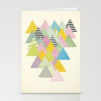 french Stationery Cards featuring French Alps by Cassia Beck