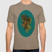 peacock tree Mens Fitted Tee Tri-Coffee SMALL