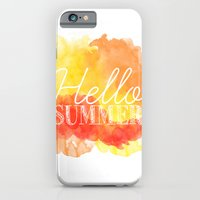 iPhone & iPod Case featuring Hello Summer; by Michaela Palmer