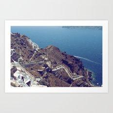 Santorini Stairs Art Print