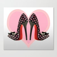 Canvas Print featuring Love Shoes by Fran Walding