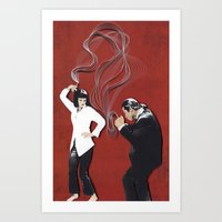 pulp fiction Art Prints featuring Pulp Fiction by yakawonis