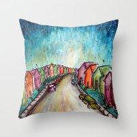 The Street Near My Stree… Throw Pillow
