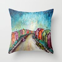 The Street Near My Stree… Throw Pillow