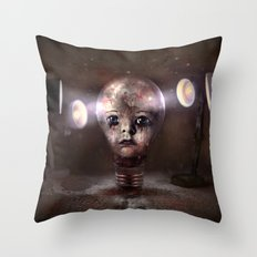 Sadness in the Dark Throw Pillow