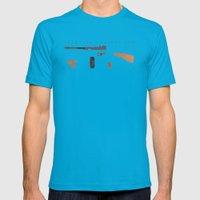 Thompson Machine Gun Mens Fitted Tee Teal SMALL