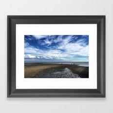 A child on the beach. Framed Art Print