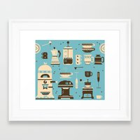 Coffee Paraphernalia   Framed Art Print