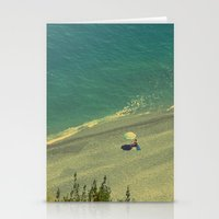 Lady on the Italian Riviera Stationery Cards