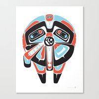 Great Sun Bear - Alliance Is Rebellion  - Millennium Falcon, wars, star Canvas Print