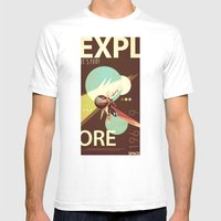 Vintage Space Poster Ser… Mens Fitted Tee White SMALL