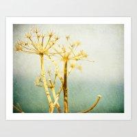 Golden & Blue Art Print
