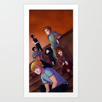 The Class Group Shot Art Print