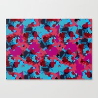 Flakes Turquoise Canvas Print