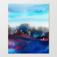 Watercolor abstract landscape 25 Canvas Print