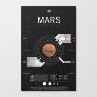 OMG SPACE: Mars 1960 - 1980 Canvas Print