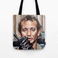 Bill Murray / Ghostbusters / Peter Venkman / Close-Up Tote Bag