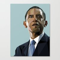 Geometric Obama Canvas Print