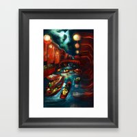 Chinese Moonlight Market… Framed Art Print