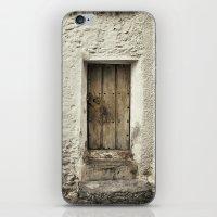 Retro door in mountains village iPhone & iPod Skin