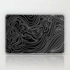 Ocean depth map - black Laptop & iPad Skin