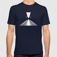 let me down. Mens Fitted Tee Navy SMALL