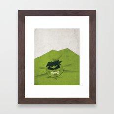 Paper Heroes - Hulk Framed Art Print