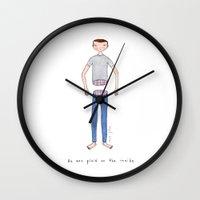 He was plaid on the inside Wall Clock