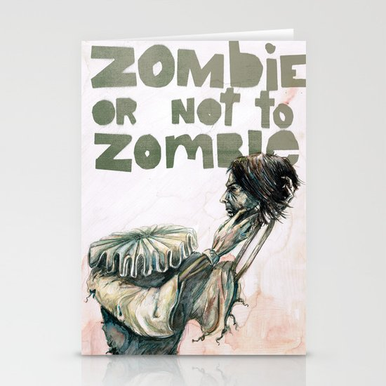 Zombie + Shakespeare Stationery Card
