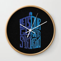 Let's Go Satisfy Our Rabid Curiosity Tardis Wall Clock