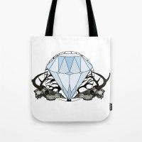 Diamond and skulls Tote Bag