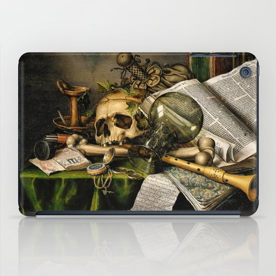 Vintage Vanitas- Still Life with Skull iPad Case