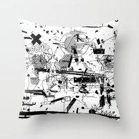 MUMBLE MUMBLE #3 Throw Pillow