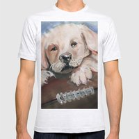 Puppy Touchdown Mens Fitted Tee Ash Grey SMALL