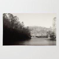 Black & White Lake Rug