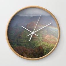 Waimea Canyon Rainbow Wall Clock