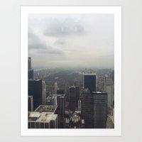 Central Park in the Fog Art Print
