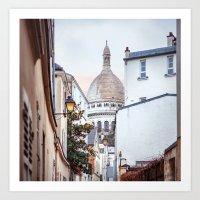 I love Montmartre, Paris. Art Print