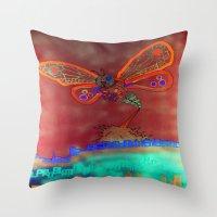 Bad Ash Mothra Funker Fu… Throw Pillow